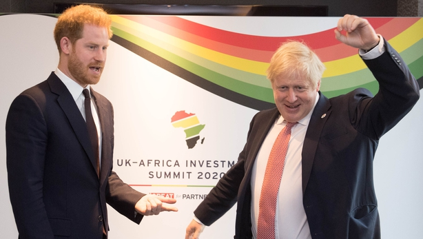 Prince Harry and Boris Johnson