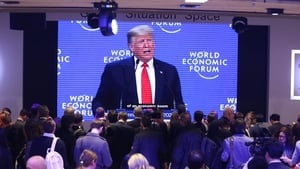 The US President is scheduled to have a lower profile day at Davos today