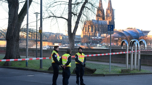 Construction workers found the bomb on the right bank of the Rhine river yesterday evening