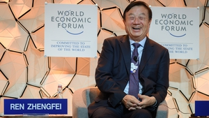 Huawei founder Ren Zhengfei took the stage at Davos to talk about the future of the tech arms race