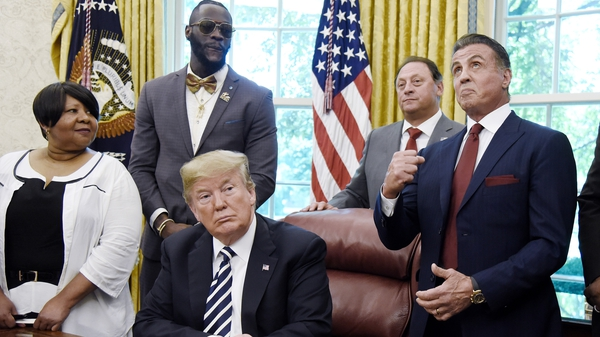 Sylvester Stallone with Donald Trump in the White House