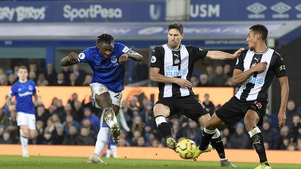 Moise Kean netting his first Premier League goal