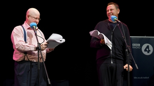 (L-R) Matt Lucas and David Walliams at the recording of Little Britain's Brexit special, Little Brexit, in London's Shaw Theatre in October