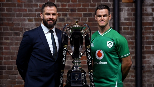 Andy Farrell and Johnny Sexton at the launch