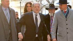 Harvey Weinstein arriving at Manhattan Criminal Court