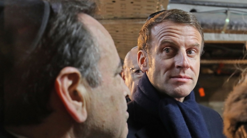 French President Emmanuel Macron in Jerusalem
