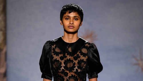 It's all about leather, lace and roses, says Katie Wright. Photo: Shrimps AW19 (Shrimps/PA)