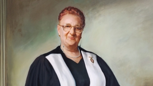 Portrait of Dean Mary Frances Crowley, by William Nathans