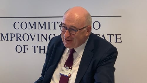 EU Trade Commissioner Phil Hogan is attending the Davos 2020 event