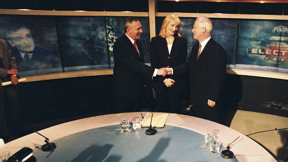 Bertie Ahern, Miriam O'Callaghan, John Bruton  - Election '97 Leaders Debate