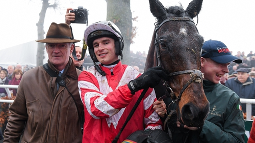 Jockey Danny Mullins with trainer Willie Mullins