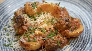 Meatball and Potato Bake