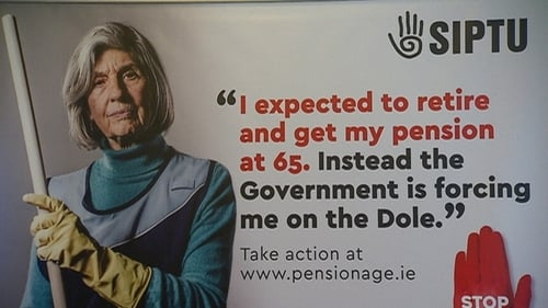 The campaign includes includes SIPTU, the National Women's Council of Ireland, Age Action and Active Retirement Ireland
