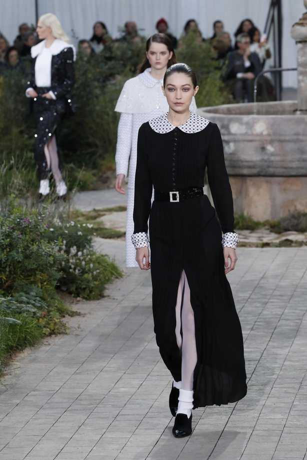 Model Gigi Hadid wears a creation for the Chanel Haute Couture Spring/Summer 2020 fashion collection (Francois Mori/AP)