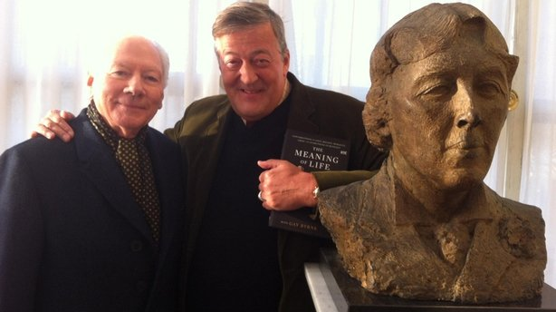 Gay Byrne, Stephen Fry, Bust of Oscar Wilde (2015), The Meaning of Life