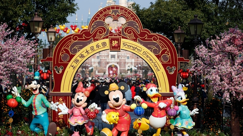 China is on a seven-day Lunar New Year holiday, a period when the Shanghai Disney park would be usually packed with tourists