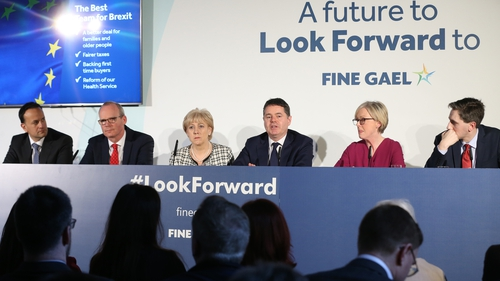 Members of the Fine Gael party at the launch of their General Election manifesto