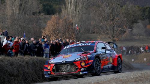 Ott Tanak and Martin Jarveoja in their Hyundai i20 Coupe WRC
