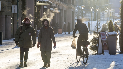 Overnight temperatures in Finland can be as low as -20C
