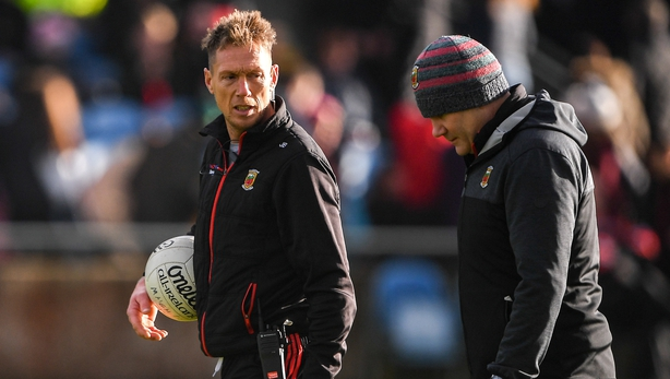 Mayo manager James Horan, right, with selector Ciarán McDonald