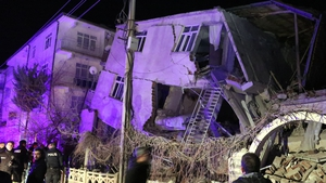The earthquake's epicentre was in Elazig province, about 550 kmeast of Ankara