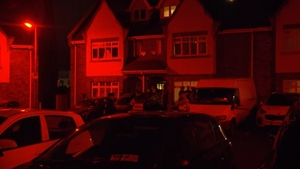 Gardaí are at the scene in Newcastle village