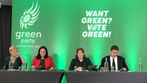 Members of the Green Party at the launch of their General Election manifesto