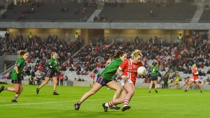 Saoirse Noonan of Cork in action against Karen McDermott