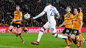Chelsea's Fikayo Tomori scores his side's second goal