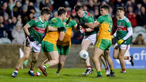 Mayo and Donegal played out a pulsating second half in the north west