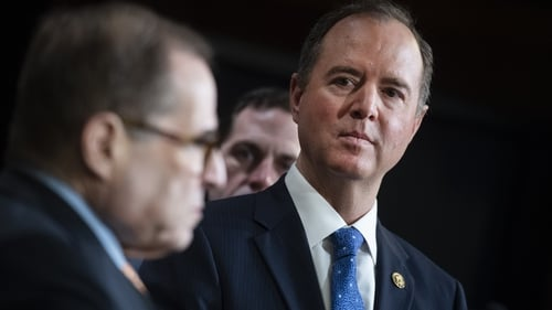 Adam Schiff (R) is the head of the Democrats prosecution for Donald Trump's impeachment trial