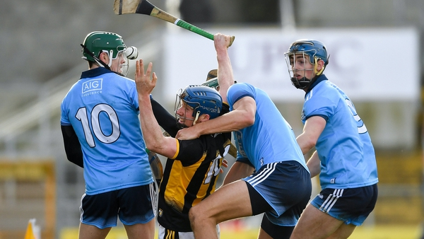 John Donnelly of Kilkenny is surrounded by Dublin opponents