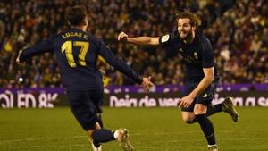 Nacho celebrates his goal