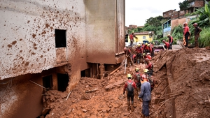 The landslides have caused many houses to collapse and damaged hundreds more