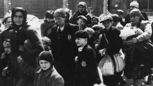 People photographed as they are brought to Auschwitz in 1944