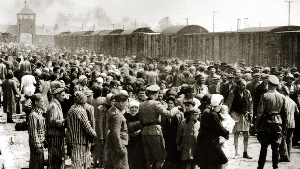 Holocaust survivors lay wreathes at Auschwitz to mark Holocaust Memorial Day