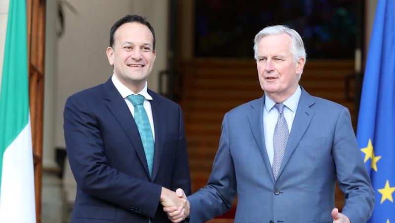 Cruinniú ag an Taoiseach le Michel Barnier i dTithe an Rialtais