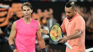 Rafael Nadal won two tiebreaks in the match