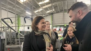 Sinn Féin leader Mary Lou McDonald was campaigning in Galway ahead of tonight's TV debate