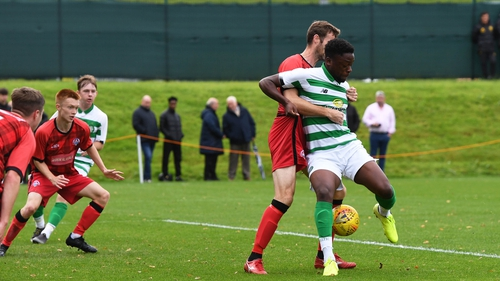 Jonathan Afolabi in action for Celtic reserves