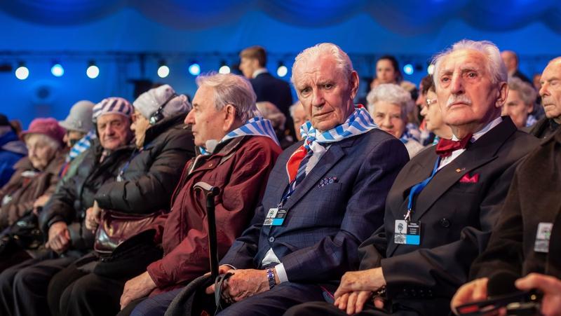 Searmanas cuimhneacháin 75 bliain in Auschwitz