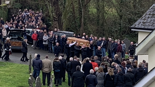 Funeral mass for Willie Whelan took place this afternoon in Poulfur