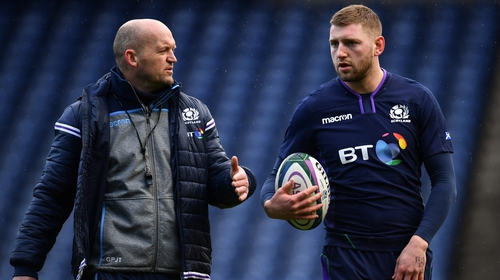 Russell, right, left the Scotland squad nine days before the opening-day Six Nations defeat by Ireland after missing training following an alleged drinking session at the team hotel