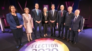The political party leaders on Claire Byrne Live in NUI Galway