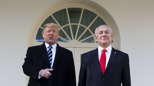 President Trump met with the Israeli Prime Minister Benjamin Netanyahu at the White House yesterday