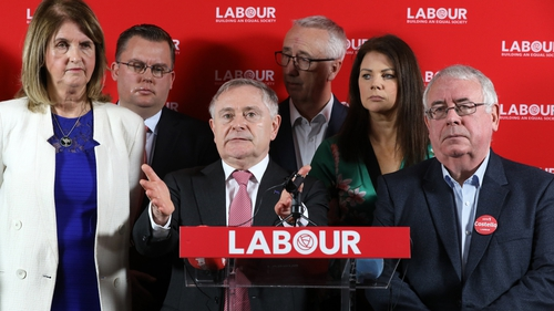 Labour leader Brendan Howlin launching the party's election manifesto (photo RollingNews.ie)