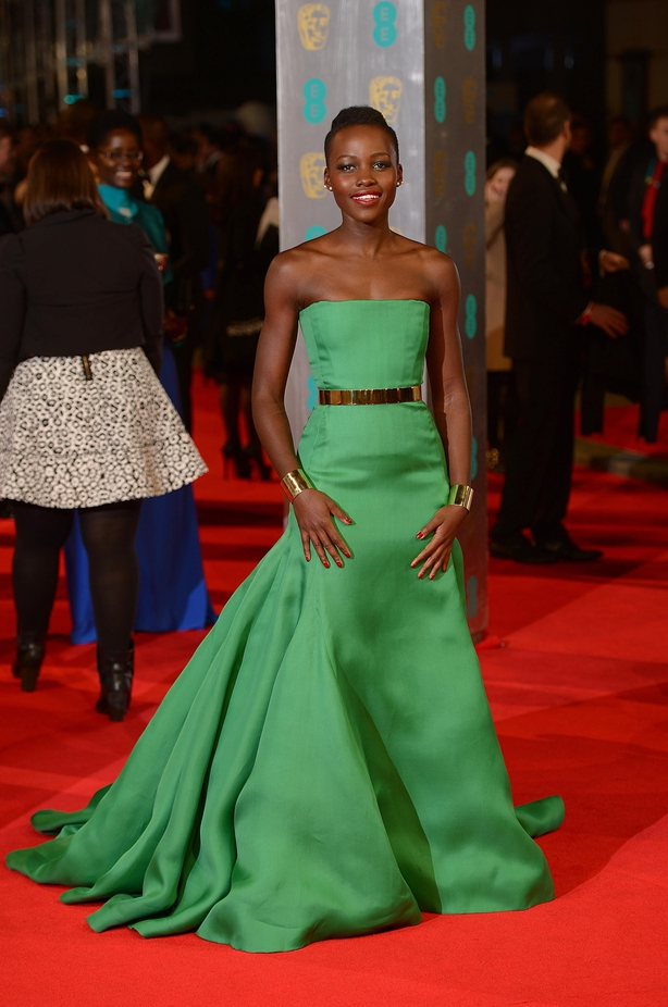 Lupita Nyong'o at the 2014 Baftas (Dominic Lipinski/PA)
