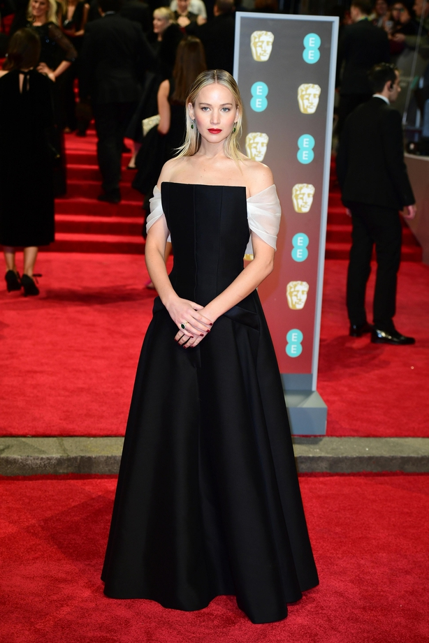 Jennifer Lawrence at the 2018 Baftas (Ian West/PA)