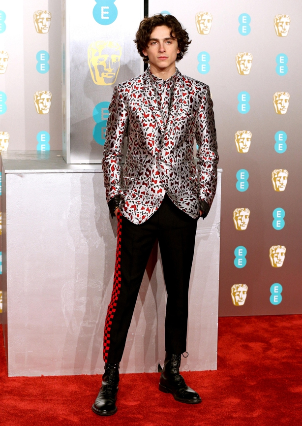 Timothée Chalamet at the 2019 Baftas (Jonathan Brady/PA)