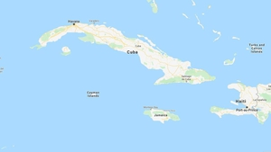 The epicenter of the quake was between Jamaica, the Cayman Islands and Cuba